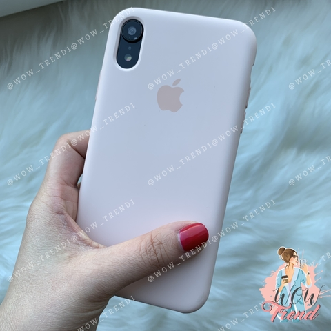 Чехол iPhone XR Silicone Case /pink sand/ розовый песок original quality
