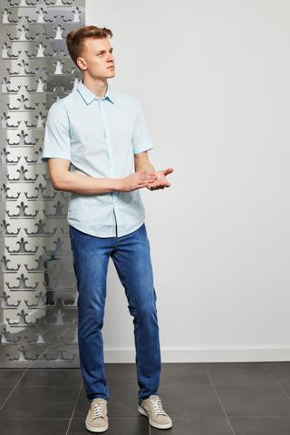 Trussardi Jeans  Сорочка с коротким рукавом приталенная