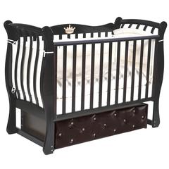 Кровать детская Луиза-3 с мягким фасадом