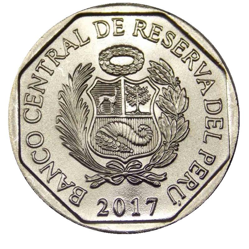 1 соль 2017 - Андский кондор (серия Красная книга Перу).