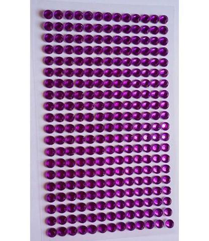 Стразы фиолетовые 5 мм длинные