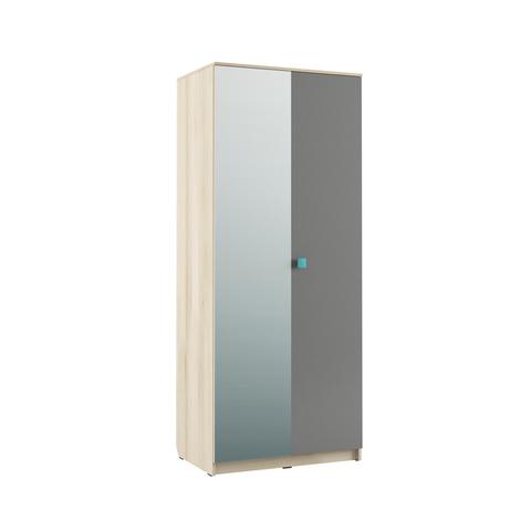 Шкаф двухдверный Доминика 451/02 Моби бук песочный, серый шифер