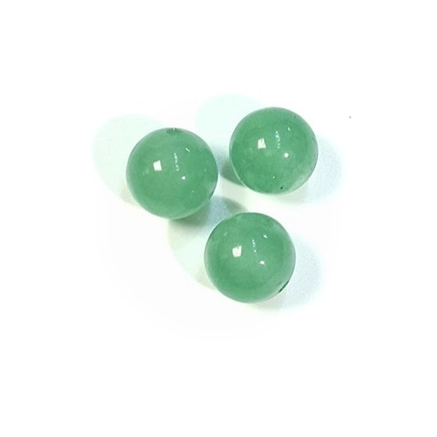 Бусина для вклейки (полупросверленная) зеленый авантюрин шар гладкий 10 мм 1 шт