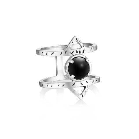 Кольцо ATHENA - Черный оникс