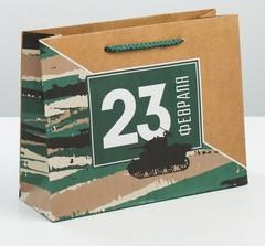 Пакет вертикальный крафтовый «Танки наши быстры», MS 18 × 23 × 8 см