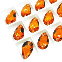 Купить оптом пришивные стразы Hyacinth Drope оранжевые