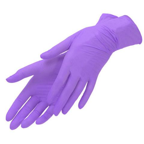 Перчатки фиалковые нитриловые