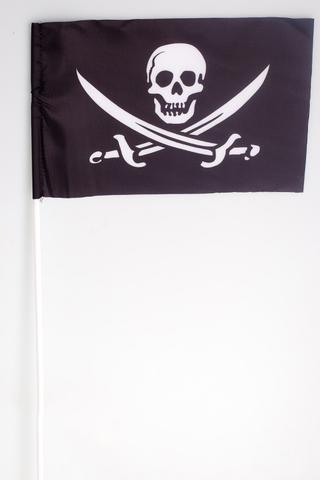 Купить флажок веселый роджер на палочке - Магазин тельняшек.ру 8-800-700-93-18Флажок пиратский