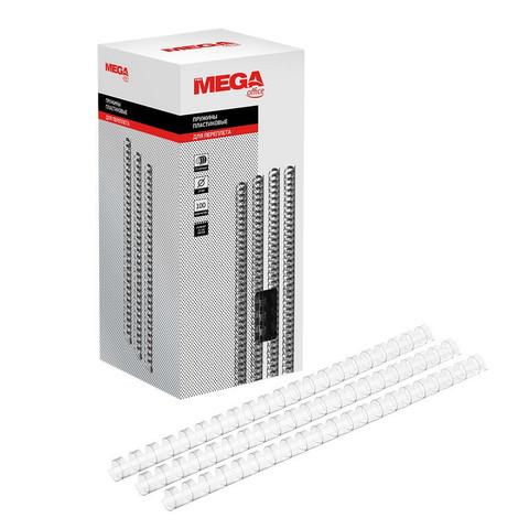 Пружины для переплета пластиковые Promega office 14 мм прозрачные (100 штук в упаковке)