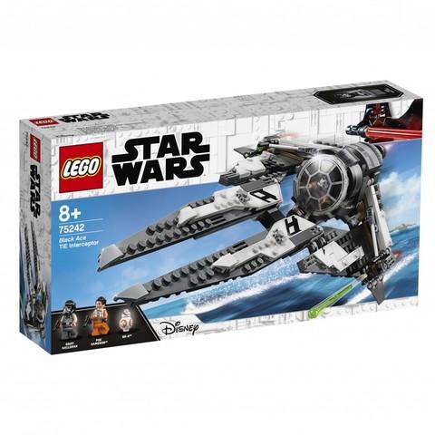 LEGO Star Wars: Перехватчик TIE Чёрного аса 75242 — Black Ace TIE Interceptor — Лего Звездные войны Стар Ворз