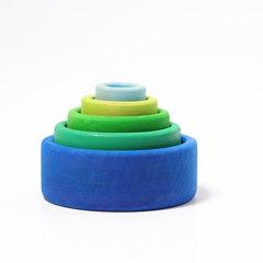 Набор чаш сине-голубой (Grimms)