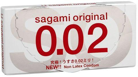 Ультратонкие презервативы Sagami Original 0.02 - 2 шт.