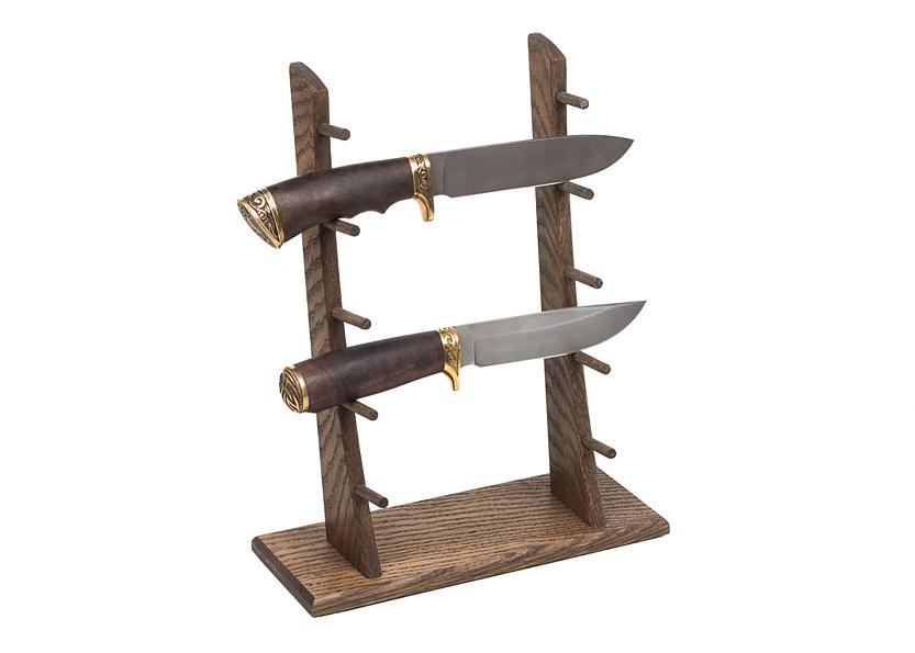 Стойка из дуба для 5 ножей высокая - фотография