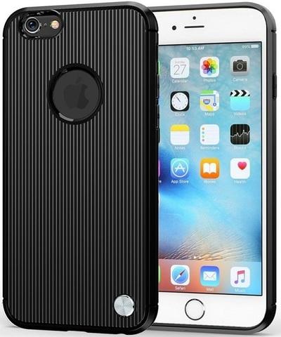 Чехол для iPhone 6 Plus (iPhone 6S Plus) цвет Black (черный), серия Bevel от Caseport