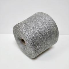 Шёлк 100%, Серый меланж, буретный, 2/26, 1300 м в 100 г