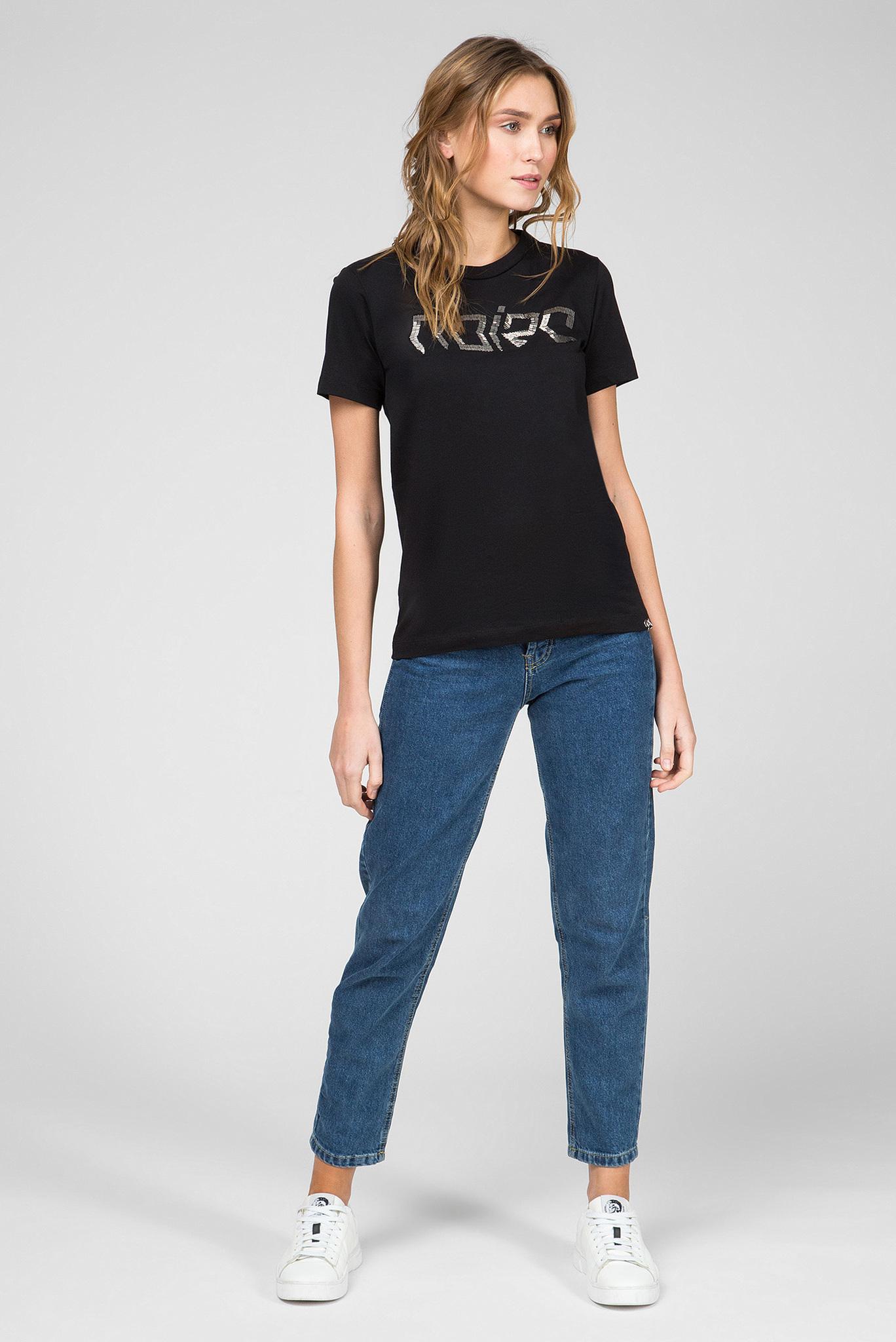 Женская черная футболка T-SILY-WS Diesel