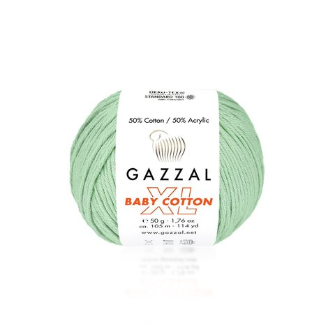 Пряжа Gazzal Baby Cotton XL 3425 мята