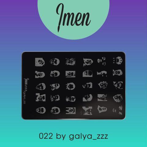 Пластина Imen для стемпинга #022