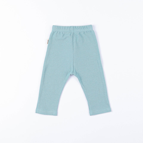 Ribbed leggings 0+, Sea Blue