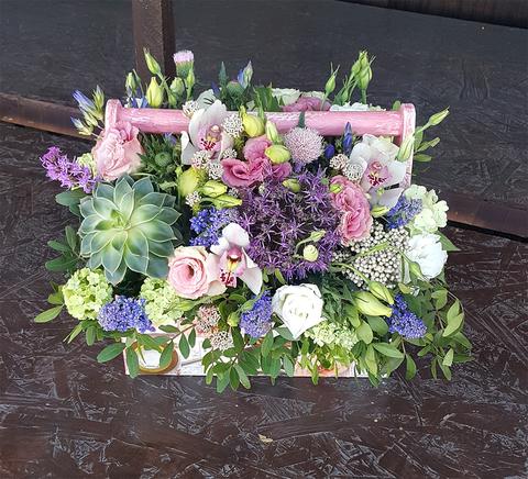 Ящик с цветами Сиреневый