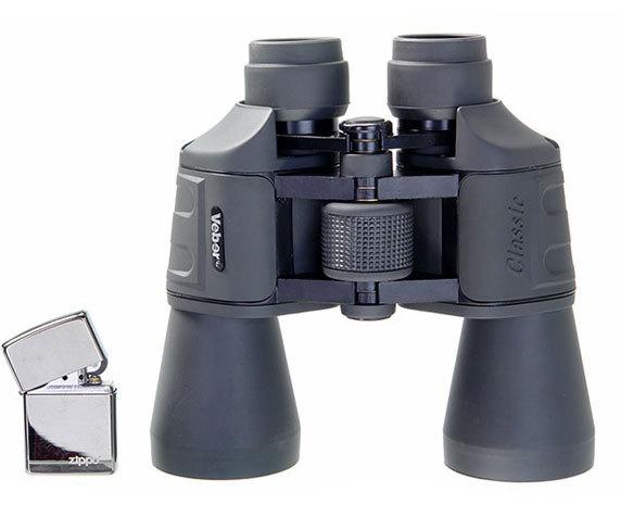Сравнительные габариты Veber Classic 7х50 VR