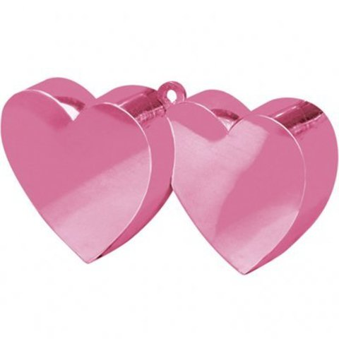 Грузик д/шара Два Сердца розовый 170гр/A