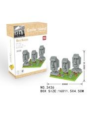 Конструктор Wisehawk & LNO Остров Пасхи Чили 312 деталей NO. 3436 Easter Island Gift Series