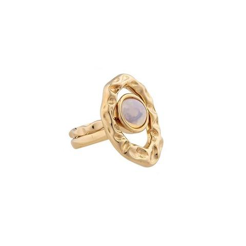 Кольцо двойное Opaline 18 мм K7158.25/17.8 BW/G