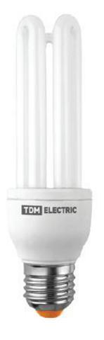 Лампа энергосберегающая КЛЛ-3U-13 Вт-4000 К–Е27 (41х126 мм) TDM