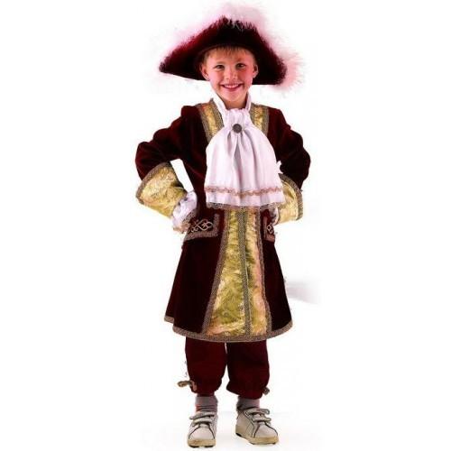 Карнавальный костюм детский Вельможа бордо
