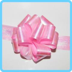 Бант подарочный розовый 5 см