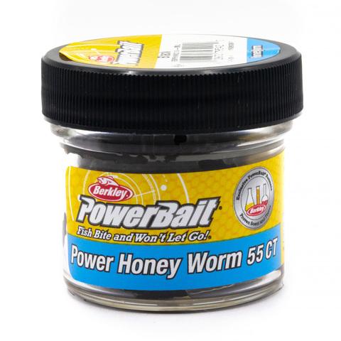 Приманка силиконовая Berkley Honey Worm Black (1506397) Имитация опарыша крупного