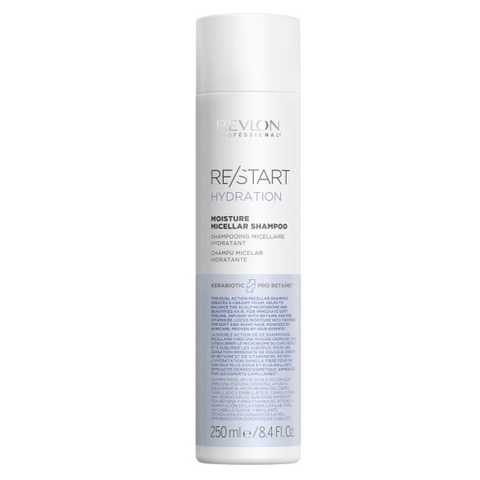 REVLON Restart Hydration: Мицеллярный шампунь для нормальных и сухих волос (Moisture Micellar Shampoo), 250мл/1л