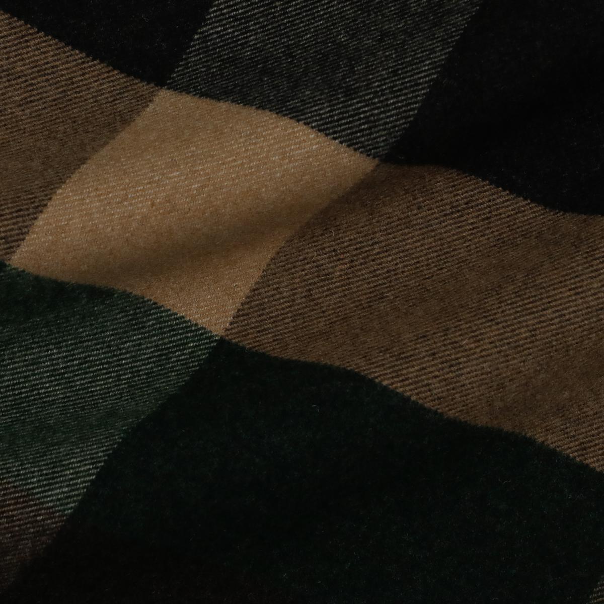 Мягкая пальтовая шерсть в крупную клетку