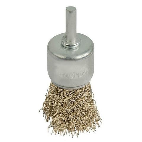 Кордщетка для дрели кистеобразная мягкая ПРАКТИКА 30 мм, хвост 6 мм