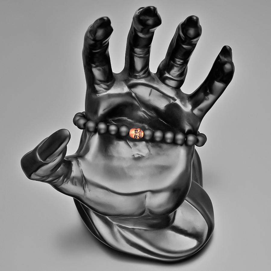 Браслет с черепом из шунгита Rico La Cara AMX006125