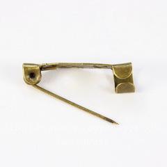 Основа для броши 20х5 мм (цвет - античная бронза), 95-100 штук