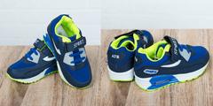 Обувь дет. № 7 Детские Кроссовки SPORT ATR Лемонно-Темно-синии