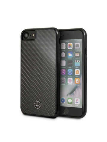 Mercedes / чехол для телефона iPhone 7/8/SE 2020 | Dynamic Real carbon Hard Black