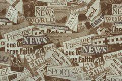 Микротекс Gazeta brown (Газета браун)