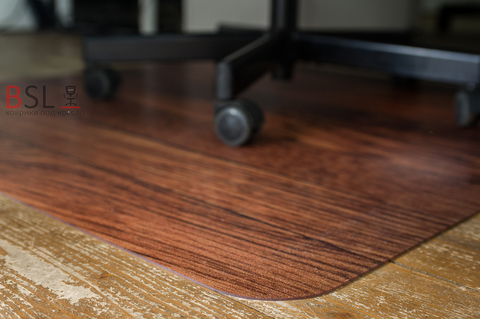 Коврик под кресло 900x1200 мм «темное дерево»