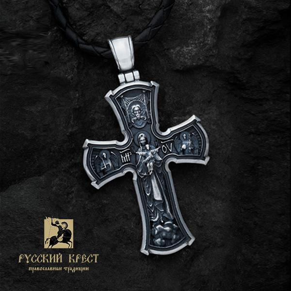 Нательный крестик  Распятие Пресвятая Богородица Благодатное Небо