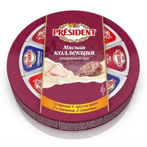 Сыр плавл PRESIDENT Мясная Коллекция 45% 140 г РОССИЯ