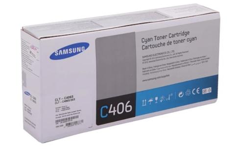 Оригинальный картридж Samsung CLT-C406S (ST986A) голубой