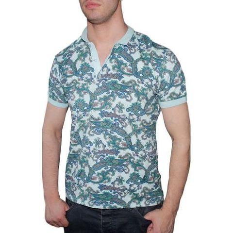 Мужская футболка ETRO голубая с принтом