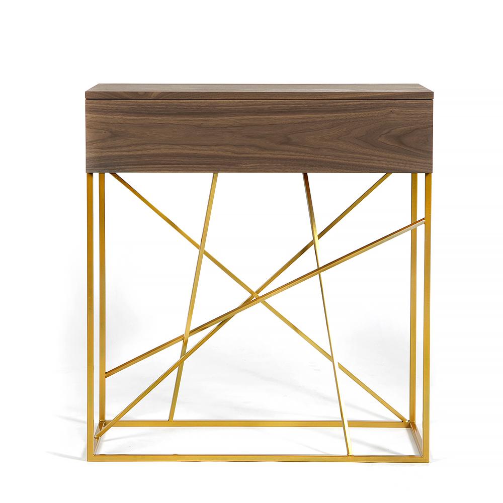 Тумба Intelligent design Wilson box gold - вид 1