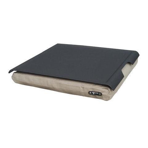 Подставка с пластиковым подносом Laptray черная-песочная