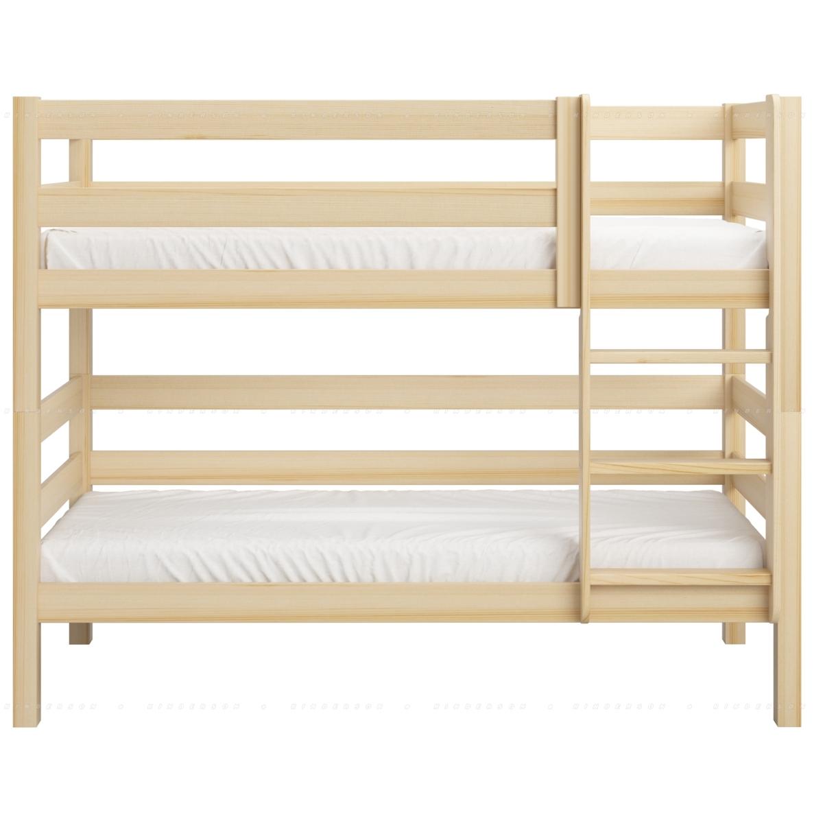 Установленный бортик на двухъярусной кровати добавляет жесткости к конструкции.