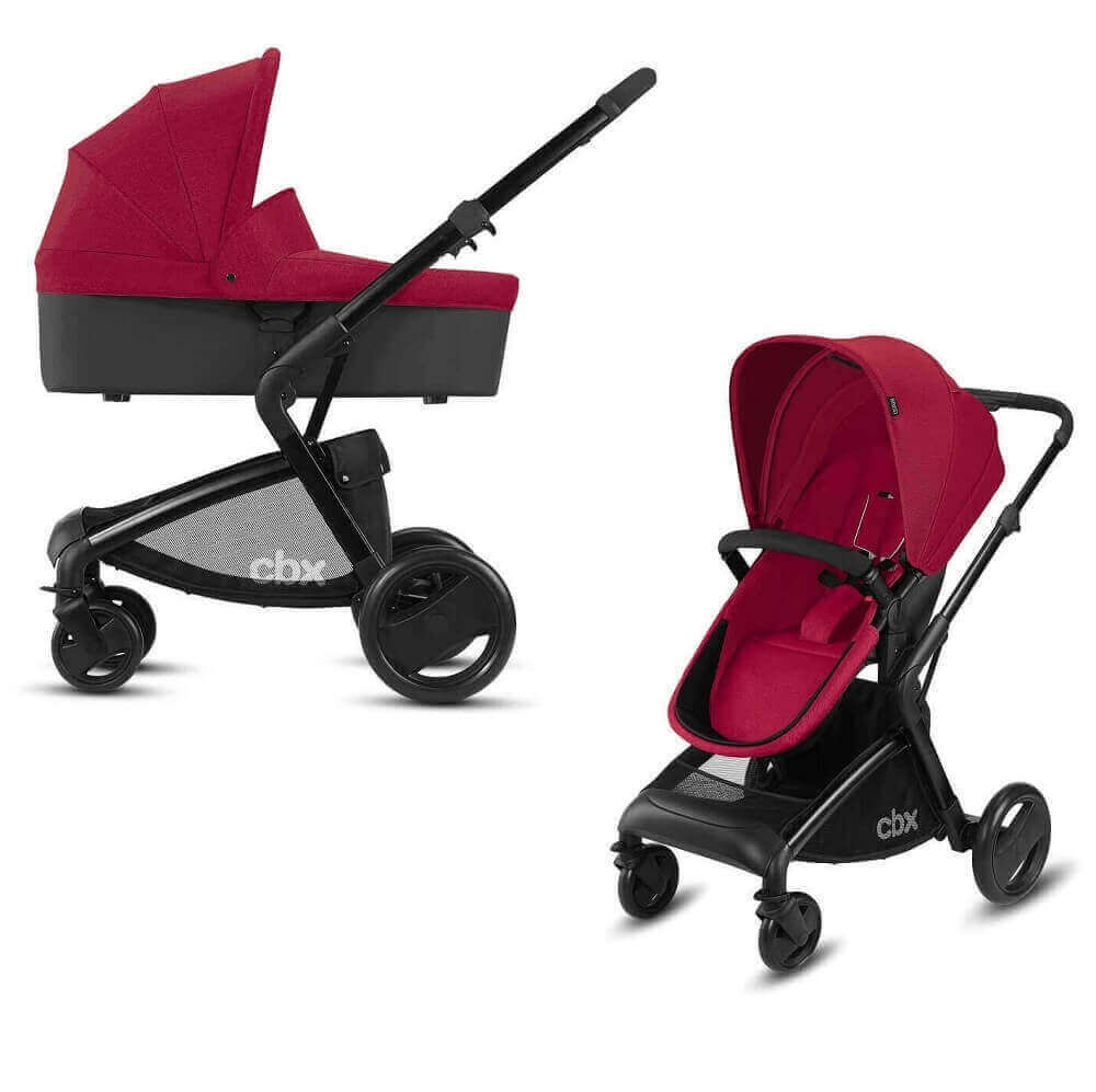 CBX by Cybex Bimisi Pure 2 в 1 Детская коляска 2 в 1 CBX by Cybex Bimisi Pure Crunchy Red CBX_18_y090_BIMISI_PURE_RED_WITHCARRYCOT_0293_DERV_HQ_-_копия.jpg