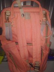Mommy Bag. Сумка-рюкзак для мамы, персик вид 6